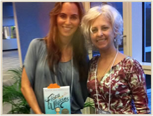 Debbie Reed Fischer and Kate DiCamillo
