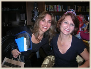 Debbie Reed Fischer and Meg Cabot